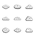 sky cloud icon set simple style vector image vector image
