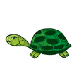 Smiling turtle cartoon vector image