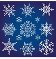 Snowflakes icon collectionWinter shape vector image vector image