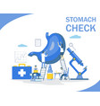 stomach check flat style design vector image