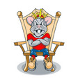 strict rat king sitting on throne vector image
