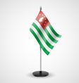 Table flag of Abkhazia vector image vector image