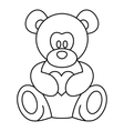 Teddy bear icon outline style vector image vector image