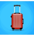 Travel bag isolated on background vector image vector image