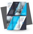 tri-foldbrochure design brochure template creative vector image vector image
