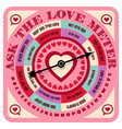 valentine love advice game with spinning arrow vector image
