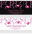 Valentines day banners with pink hearts vector image vector image