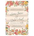 wedding card flowers and pink stripes vector image vector image