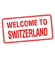 welcome to Switzerland red grunge square stamp vector image vector image