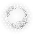 wreath of delicate pastel color white flowers in vector image