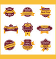 yellow marketing labels set of 4 vector image vector image