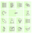 14 app icons vector image vector image
