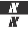 a and y initial letters creative logo template vector image