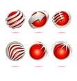 Abstract 3d sphere set vector image
