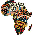 abstract africa map fabric patchwork vector image vector image