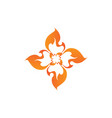 abstract flame design element creative vector image vector image