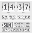 Analog black scoreboard digital week timer vector image vector image