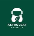 astronaut leaf logo icon vector image