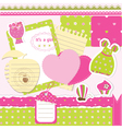 Baby girl scrapbook set vector image vector image
