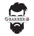 barber shop vintage retro label logo icon vector image vector image