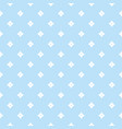 blue geometric seamless pattern with small stars vector image