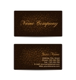 Business Card with Brown Leather Background vector image vector image