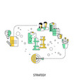 business strategy concept strategy vector image vector image
