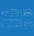 car schematic or blueprint vector image