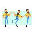 cartoon bearded lumberjack character set vector image vector image