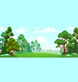 cartoon forest glade green grassland natural vector image