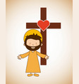catholic religion design vector image vector image