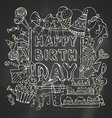 Chalk Happy Birthday card vector image vector image