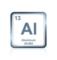 chemical element aluminum from the periodic table vector image vector image