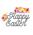 christian holiday symbols happy easter eggs vector image vector image