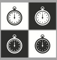 clock stopwatch icon pictograph for graphic vector image vector image
