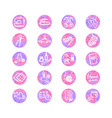 colorful set with outline icons of sewing vector image