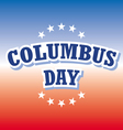 Columbus Day USA banner on red and blue background vector image