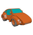 cool red car on white background vector image vector image