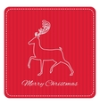 Creative retro Merry Christmas greeting card vector image vector image