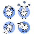 Cute doodle sheep collection vector