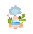 electric humidifier household appliance and two vector image