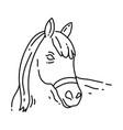 farming horse icon hand drawn icon set outline vector image