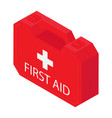 first aid kit isolated on white background vector image