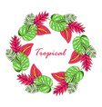 floral paradise hand drawn tropical wreath vector image vector image