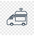 food truck concept linear icon isolated on vector image