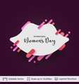 greeting card for international women day vector image vector image