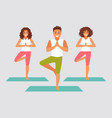 group yoga vector image
