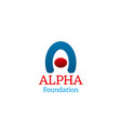 icon for alpha foundation vector image vector image