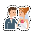 Isolated bride and groom design vector image vector image