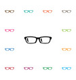isolated specs icon nerd element can be vector image vector image